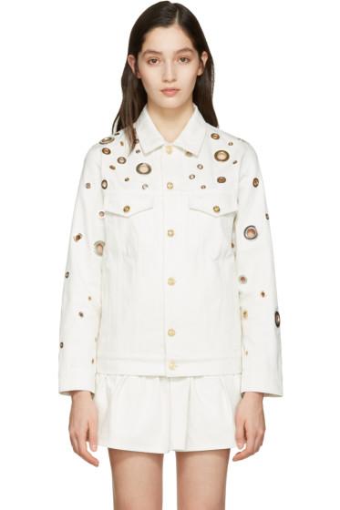 Kenzo - White Denim Eyelet Jacket
