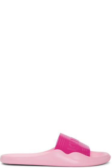 Kenzo - Pink Logo Beach Slide Sandals