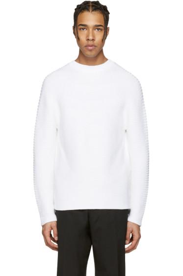 Kenzo - White Ribbed Sweater