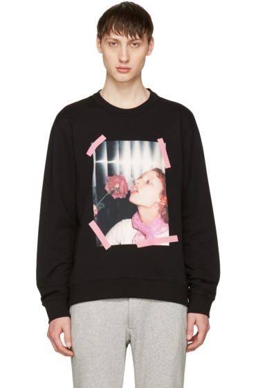 Kenzo - Black 'Girl With Rose' Sweatshirt