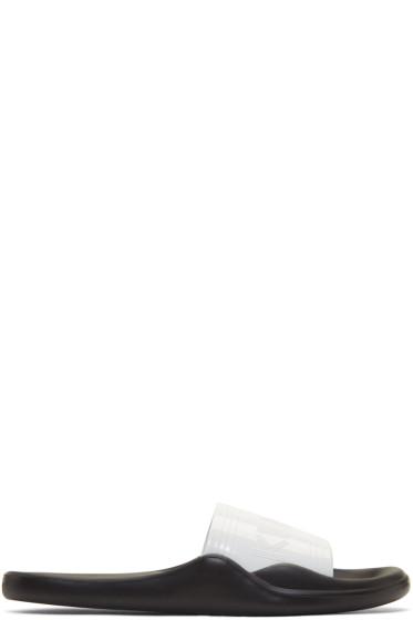 Kenzo - White & Black Pool Gummy Slide Sandals