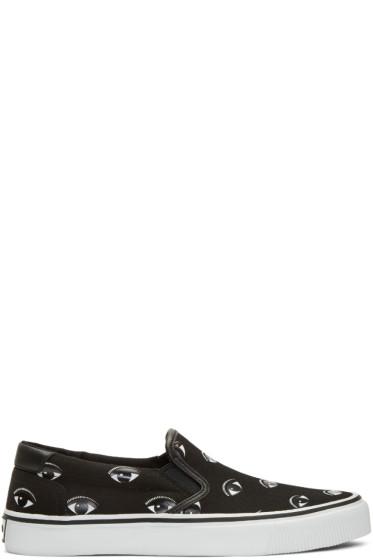Kenzo - Black Eye Slip-On Sneakers