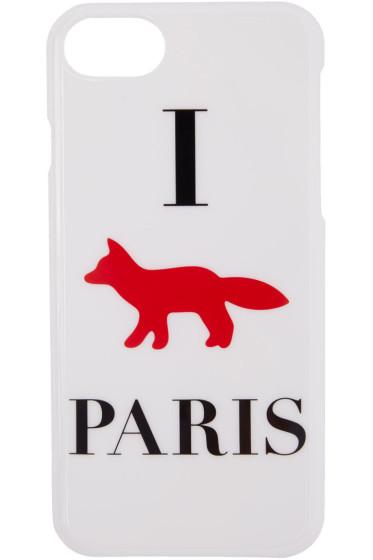Maison Kitsuné - White 'I Fox Paris' iPhone 7 Case
