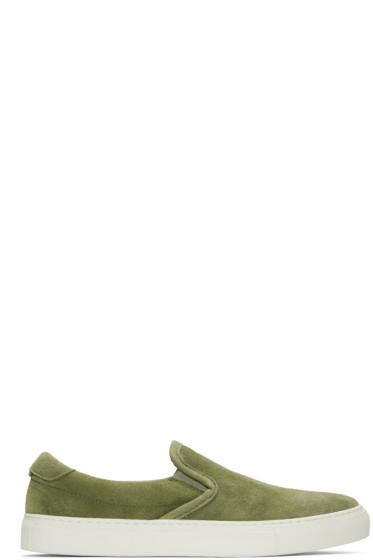 Diemme - Green Suede Garda Slip-On Sneakers