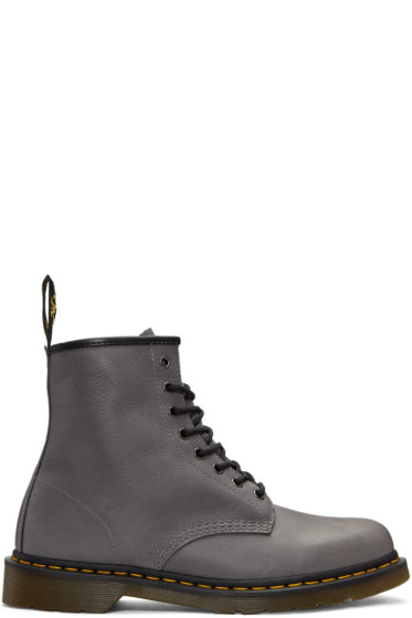 Dr. Martens - Grey 1460 Lace-Up Boots