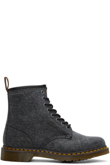 Dr. Martens - Black Canvas 1460 Boots