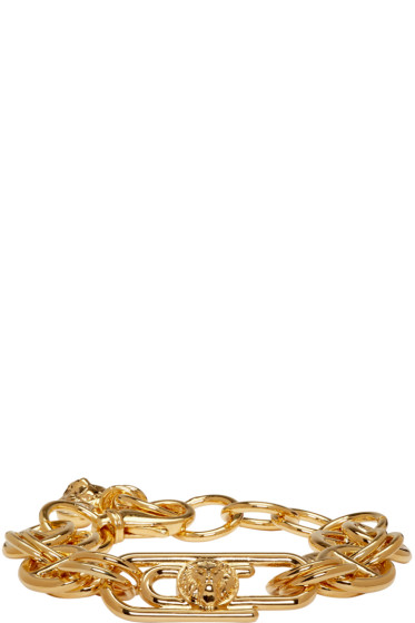 Versus - Gold Safety Pin Chain Bracelet