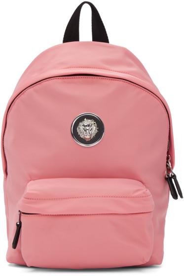 Versus - Pink Nylon Lion Backpack