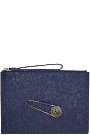 Versus - Blue Pin Zip Pouch