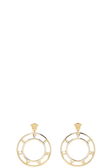 Versace - Gold Logo Earrings