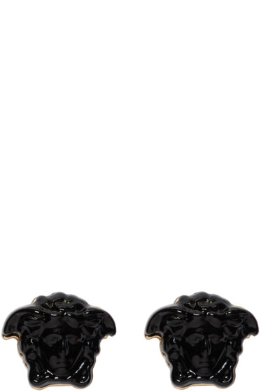 Versace - Black Medusa Earrings