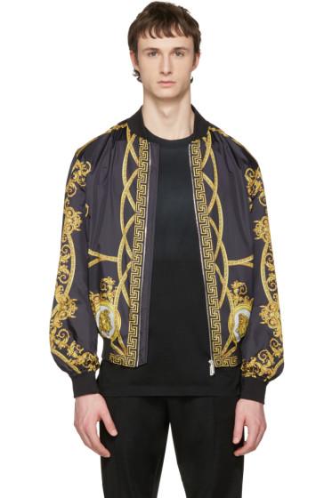 Versace - Reversible Black 'Coup De Dieu' Jacket