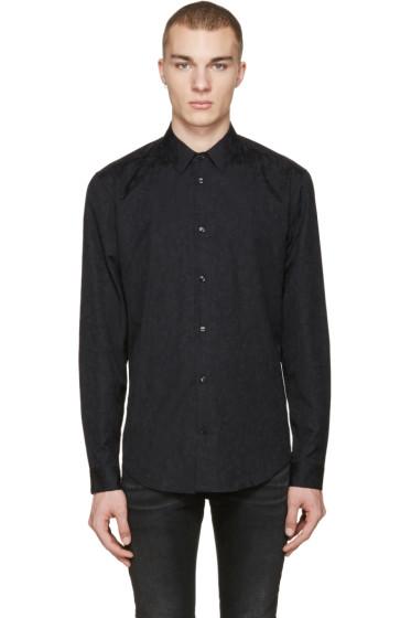 Versace - Black Jacquard Shirt