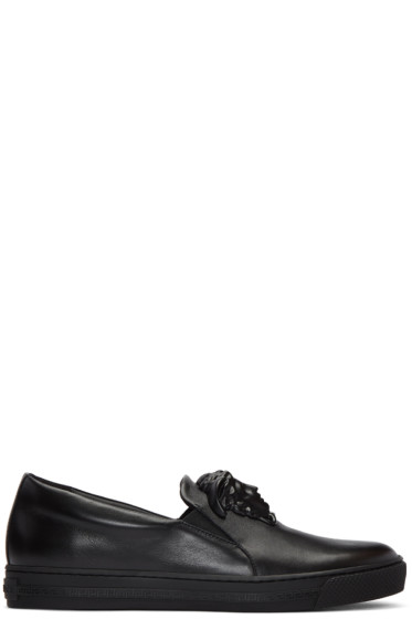 Versace - Black Medusa Slip-On Sneakers