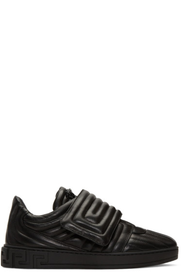 Versace - Black Quilted Medusa Sneakers