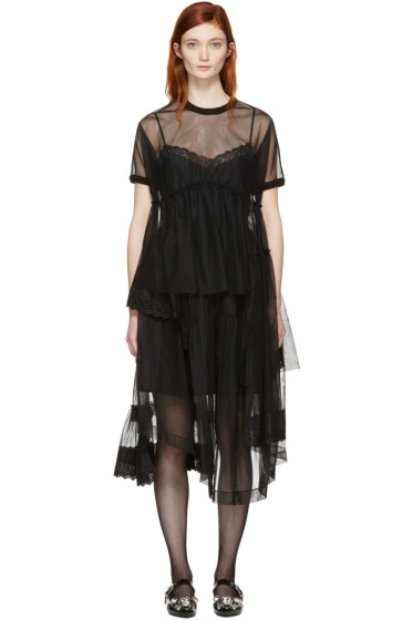 Simone Rocha - Black Tulle Top