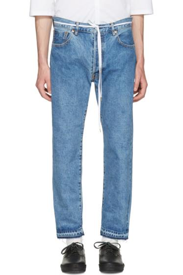 Sasquatchfabrix - Indigo 90's Silhouette Jeans