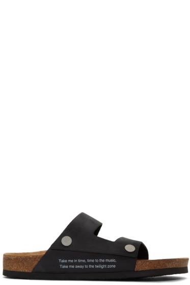 Undercover - Black Straps Sandals