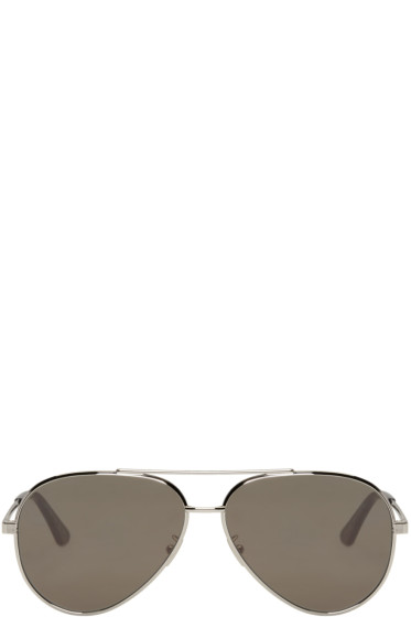 Saint Laurent - Silver Classic 11 Zero Sunglasses