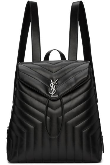 Saint Laurent - Black Medium Monogram Loulou Backpack