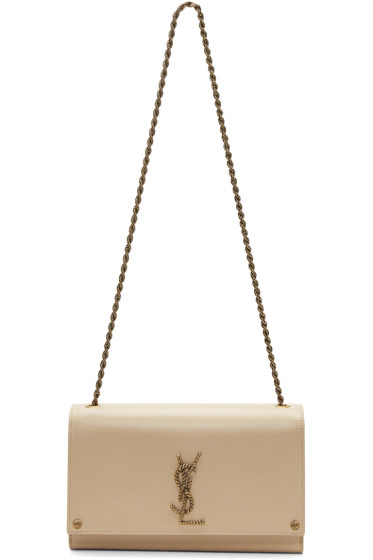 Saint Laurent - Beige Medium Monogram Kate Chain Bag