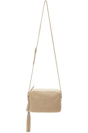 Saint Laurent - Beige Small Monogram Camera Bag
