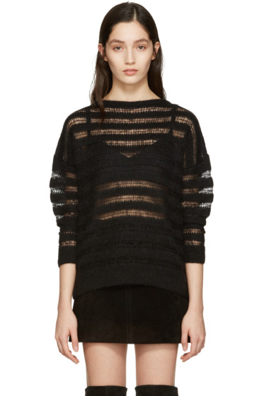Saint Laurent - Black Mohair Sweater
