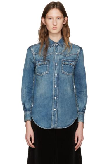 Saint Laurent - Blue Denim Nashville Shirt