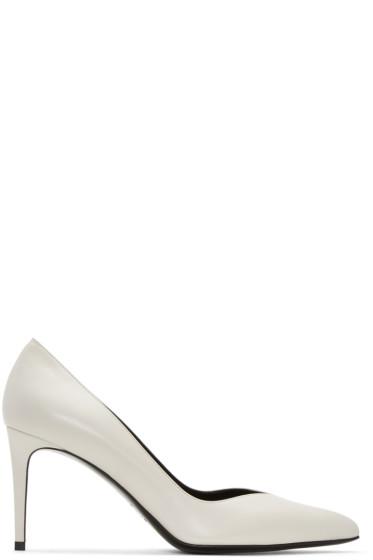 Saint Laurent - White Paris Skinny Heels