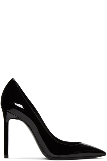 Saint Laurent - Black Patent Leather Anja Heels