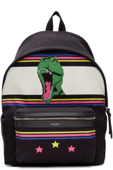 Saint Laurent - Black Dino City Backpack