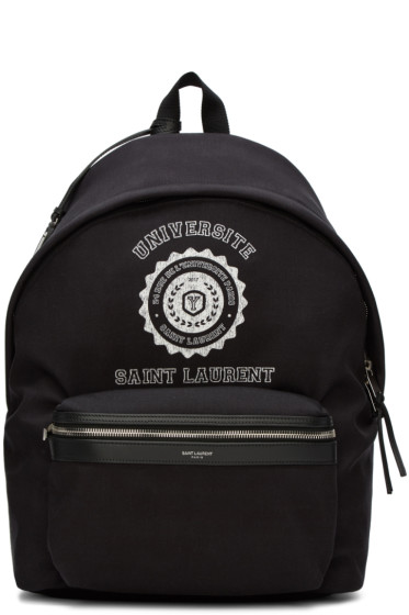 Saint Laurent - Black Monogram Université City Backpack