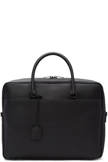 Saint Laurent - Black Grained Calfskin Briefcase