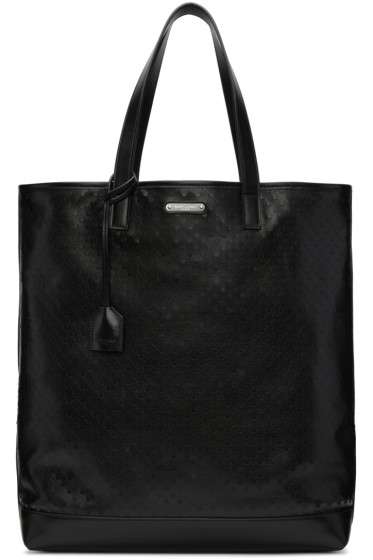 Saint Laurent - Black Perforated Shopping Tote