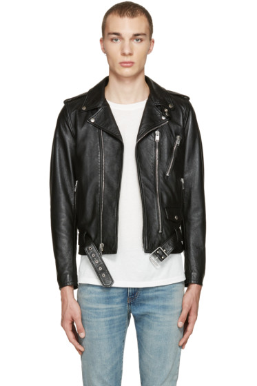 Saint Laurent - Black Blood Luster Biker Jacket