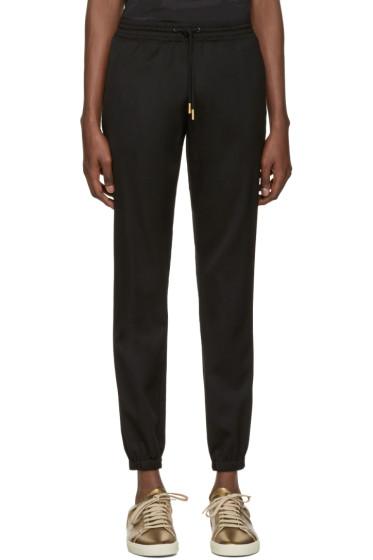 Saint Laurent - Black Drawstring Jogger Trousers
