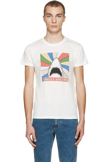 Saint Laurent - White Sweet Dreams Shark T-Shirt
