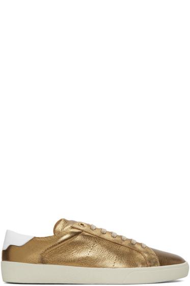 Saint Laurent - Bronze SL/06 Court Classic Sneakers