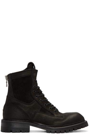 Julius - Black Combat Boots