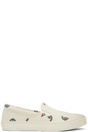 PS by Paul Smith - Ecru Watermelon Clyde Slip-On Sneakers