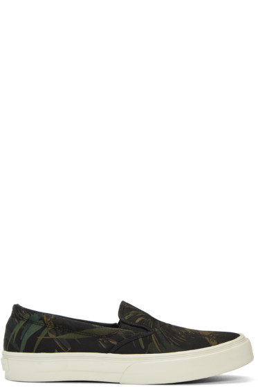 PS by Paul Smith - Black Cockatoo Clyde Slip-On Sneakers