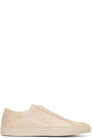 Woman by Common Projects - Beige Original Achilles Low Sneakers