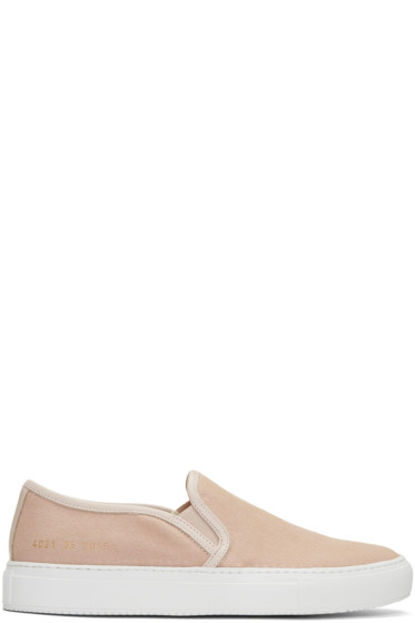 Woman by Common Projects - Pink Canvas Tournament Slip-On Sneakers