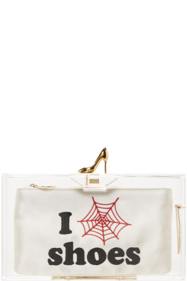 Charlotte Olympia - Transparent 'I Love Shoes' Clutch