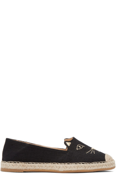 Charlotte Olympia - Black Kitty Espadrilles