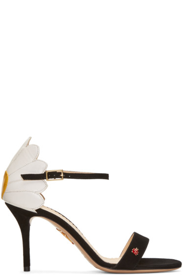 Charlotte Olympia - Black Suede Marge Sandals
