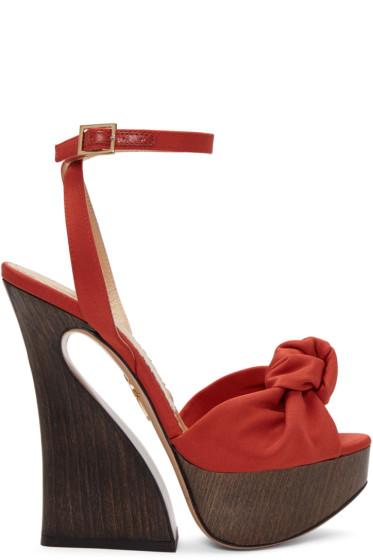 Charlotte Olympia - Red Platform Vreeland Sandals