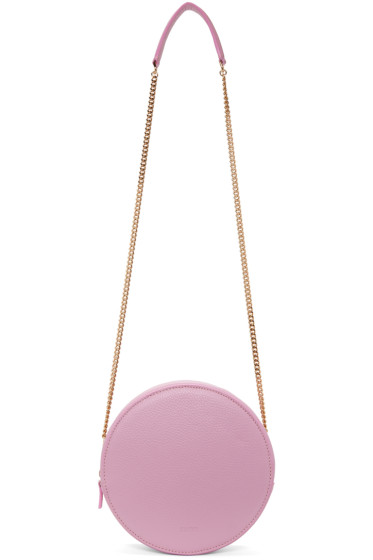 MSGM - Pink Round Geometric Shoulder Bag