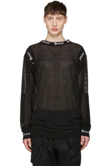 KTZ - Black Embroidered Mesh Pullover