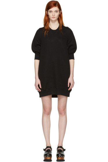 Sacai - Black Sweatshirt Dress